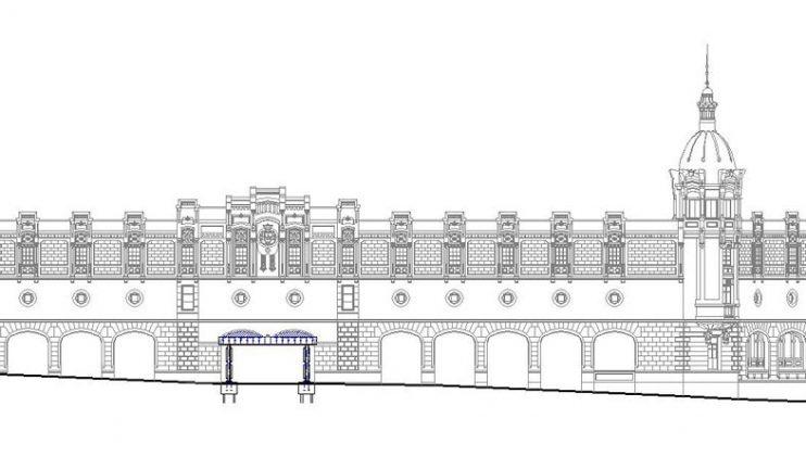 Supresión provisional de pilar en edificio representativo